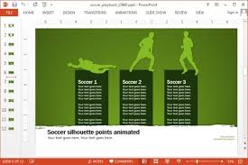 Animated Soccer Playbook Powerpoint Templates