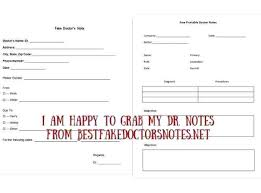 Create Your Own Fake Legit Make Doctors Note Free Printable For