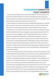 5 Paragraph Narrative Essay Example By Personal Essay Issuu