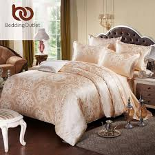 bedding gold bedding set le and elegant duvet cover tribute silk qualified bed linen queen king