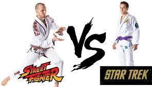 star trek gi vs street fighter gi what kind of nerd are you