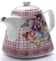 <b>Чайник заварочный Loraine</b> 22966-LR розовый рисунок <b>1.1</b> л ...
