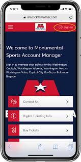 Digital Ticketing Web Washington Wizards