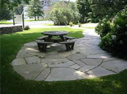 flagstone patio with grass. Patio Pavers Flagstone With Grass