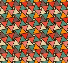 Shape Patterns Extraordinary Retro Pattern Of Triangle Shapes By Evdakovka GraphicRiver