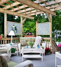 Outdoor Living Room Sets Attached Pergola Over Deck Archadeck Outdoor Living