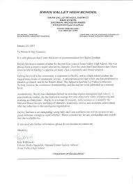 Letter Of Recommendation From Coach For Studentletter Of ...