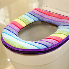 comfortable toilet seat soft cloth washable lid top cover pad bathroom warmer winter toilet seat cover