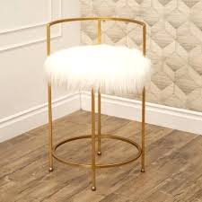 silver orchid banks faux fur inch counter stool bar stools diy