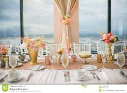 Wedding Reception Arrangements For Tables Wedding Reception Centerpieces Stock Photo Image Of Dining Fine