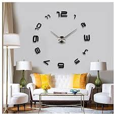 universal modern home decoration large diy 3d wall clock mirror sticker art clock