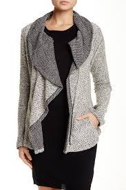 Nordstrom Rack Winter Coats Blanc Noir Drape Front Tweed Zip Jacket Tweed Nordstrom And Zip 87