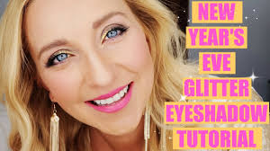 easiest new year s eve glitter eyeshadow makeup tutorial ever the melea show