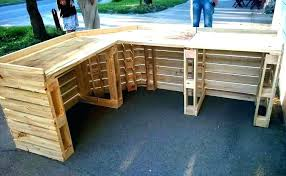 how to build a bar table wooden making out of pallets gorgeous your own height go
