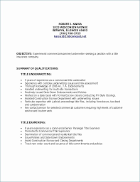 Free Sample Resume Title Examples Visit To Reads
