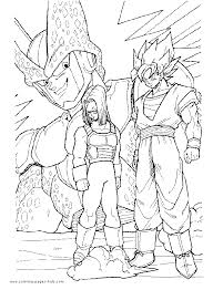dragonball dragon ball z color page cartoon characters coloring pages color plate coloring