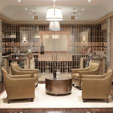 home wine room lighting effect. giannetti home chic basement wine cellar with seamless glass doors and exposed brick walls room lighting effect i