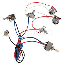 online get cheap guitar wiring harness aliexpress com alibaba group electric guitar wiring harness kit 2v2t pot jack 3 way switch for gibson les paul lp