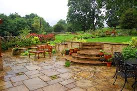 garden walls and steps