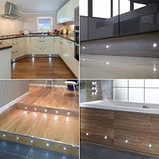 stair lighting. Set Of 10, 15mm Cool White LED Decking / Deck Plinth Lights (high Stair Lighting E