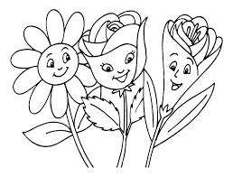 Flowers Pictures To Color Spring Flowers Coloring Pages Printable