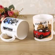 european cup office coffee. 330ml Creative Car Ceramic Mug European And American Style Simple Mugs Fashion Office Coffee Fine Cup N