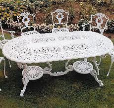victorian aluminium garden table