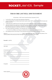 A last will and testament (last will or simply a will) is a document created by an individual, (testator or grantor), which is used to outline how power of attorney forms, for example, allow someone to choose someone else to make financial and medical decisions on their behalf if they. Last Will And Testament Uk Template Make Your Free Will