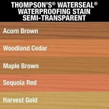 Thompsons Waterseal 1 Gal Semi Transparent Acorn Brown