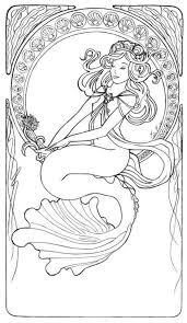 Cloloring Art Mermaid Coloring Pages Adult Coloring Pages