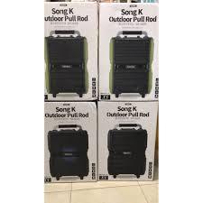Mã 66ELHASALE hoàn 7% đơn 500K] Loa Bluetooth ngoài trời công suất lớn Remax  RB-X5 kèm 2 míc karaoke