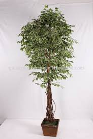 Decorative Indoor Trees Indoor Home Decorative Artificial Wooden Tree Plastic Mini Ficus