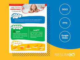 It is the perfect way to make the best impression. Norrebro Colorful Resume Template For Kids Resumgo Com