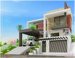 Small Picture Modern Luxury House With Cellar Floor Kerala Home Design And Right