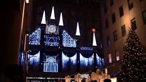 Nyc Tree Lighting 2015 Christmas Lights Show At The Rockefeller Center Nyc 2015