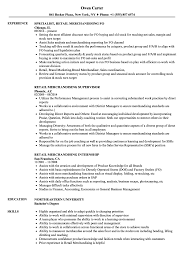 Retail Merchandising Resume Samples Velvet Jobs