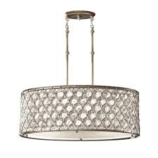 crystal pendant lighting. Lucia Oval Crystal Pendant Light In Burnished Silver Lighting L