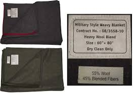 new military style heavy wool blanket