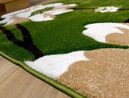 flower pattern rug red black green beige brown purple cream modern