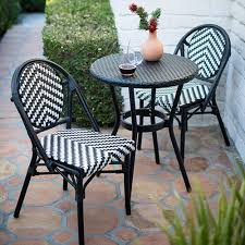 cool patio furniture ideas. Black And White Outdoor Bistro Set Cool Patio Furniture Ideas E