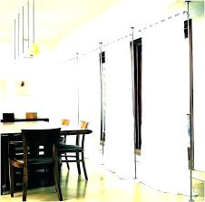 ceiling mounted room dividers divider wall hanging panels accordion divide