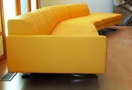 Yellow leather chair Mustard Leather 24 Photos Gallery Of Very Striking Yellow Leather Sofa Rasha Interior Design Very Striking Yellow Leather Sofa Rasha Interior Design