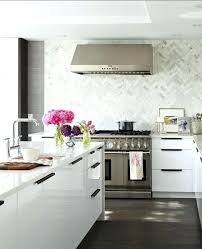 White Backsplash Dark Cabinets Best Kitchen Glass Tile Dark Cabinets