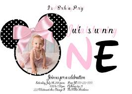 feecefaeebe simple minnie mouse first birthday invitations