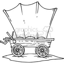 black and white covered wagon. black and white wagon covered