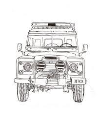 Land Rover Series Iii Ink Drawing Fmp Design Work Land Rover