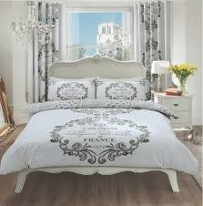 duvet cover with pillow case quilt bedding set paris silver intended for covers idea 16