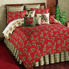 Holly Red Holiday Quilt Bedding &  Adamdwight.com