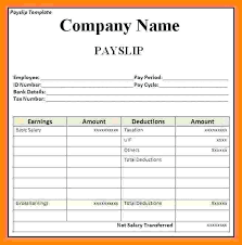 Download Payslip Template Stunning Payslip Template Excel South Africa Free Payment Slip Sample Format