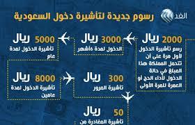 نتيجة بحث الصور عن قيمة رسوم تأشيرة الزيارة العائلية للسعودية الآن بعد الزيادة الجديدة